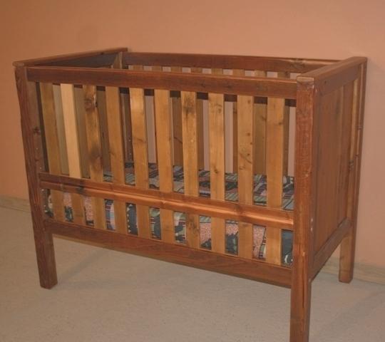Barn Wood Baby Crib Convertible