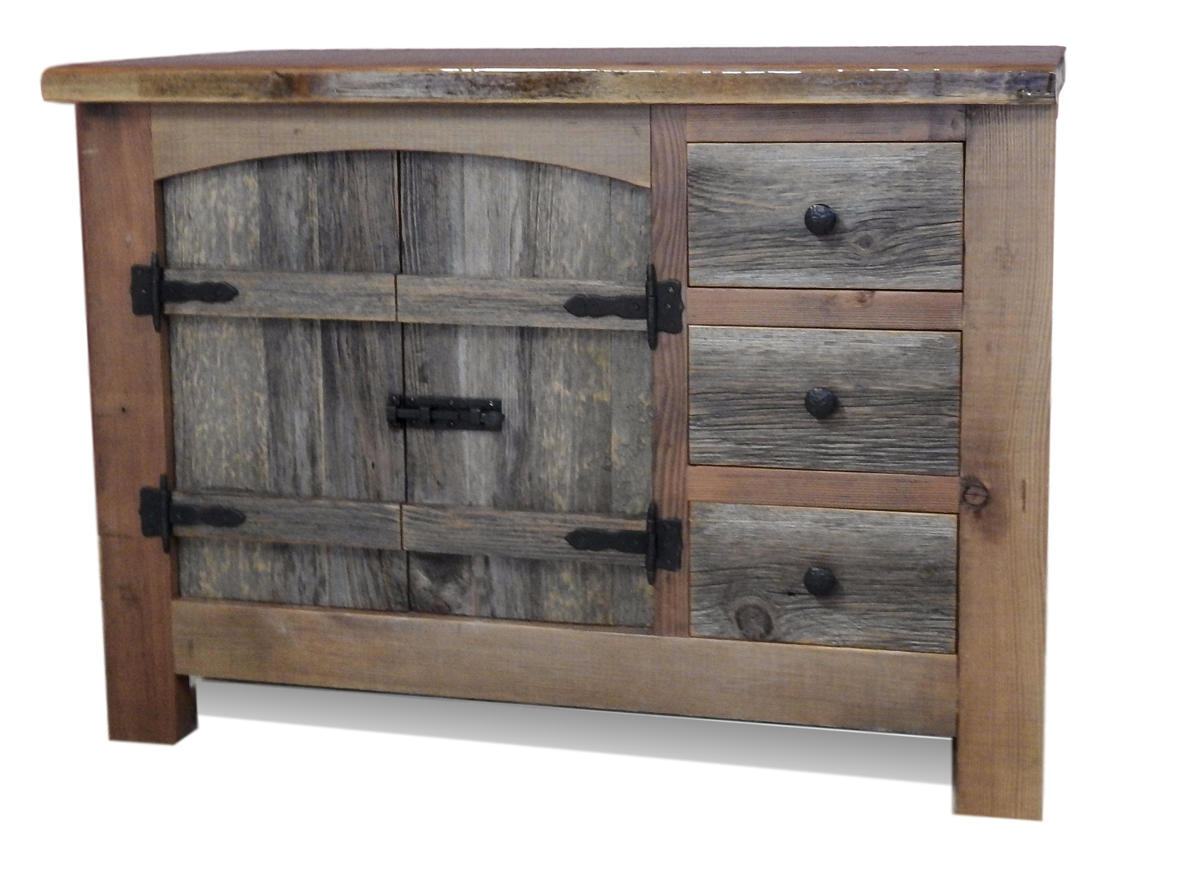 Arched Barnwood Vanity With Drawers U2014 Barn Wood Furniture   Rustic Barnwood  And Log Furniture By Vienna Woodworks