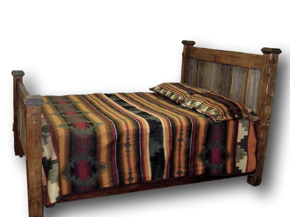 BARN WOOD BED TWO TONE