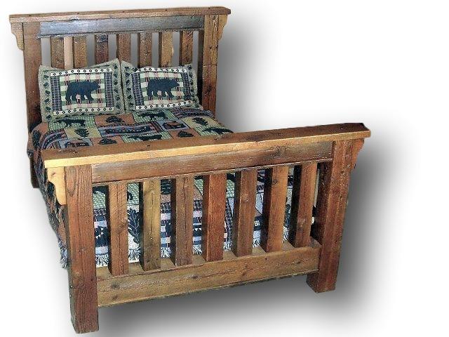 Minnesota Barnwood Timber Bed U2014 Barn Wood Furniture   Rustic Barnwood And Log  Furniture By Vienna Woodworks