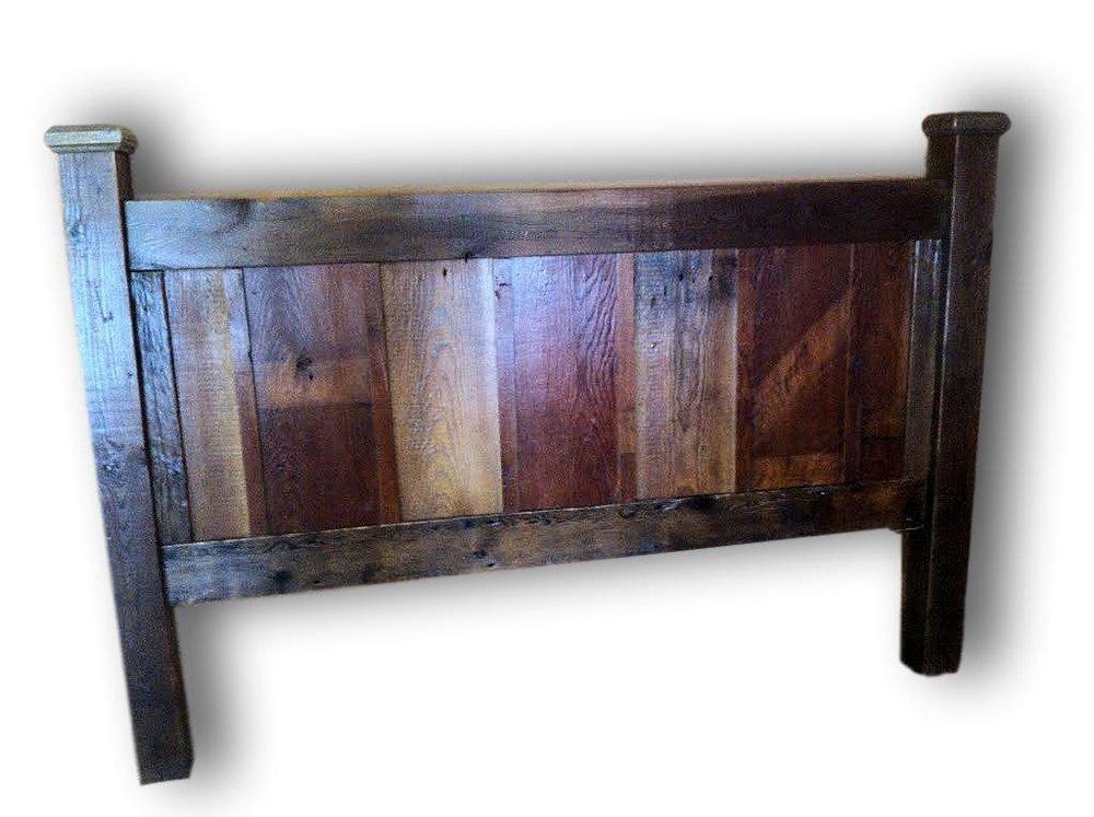 Reclaimed Wood Head Board Two Tone