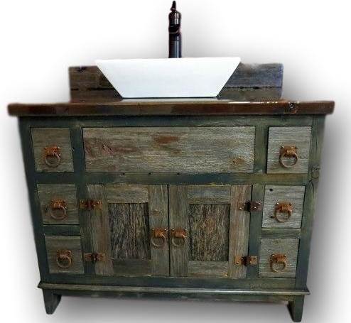 GRAY BARNWOOD VANITIES -