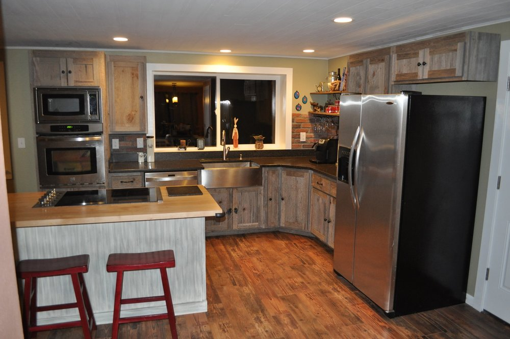 Simple Rustic Kitchen Cabinets