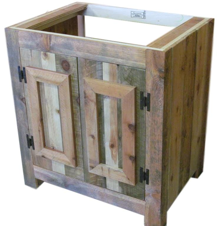 Reclaimed Wood Rustic Bathroom Vanity — Barn Wood Furniture - Rustic  Furniture - Log Furniture By Vienna Woodworks - Reclaimed Wood Rustic Bathroom Vanity €� Barn Wood Furniture