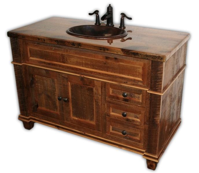 Barnwood Antique Vanity - Barnwood Antique Vanity — Barn Wood Furniture - Rustic Barnwood And