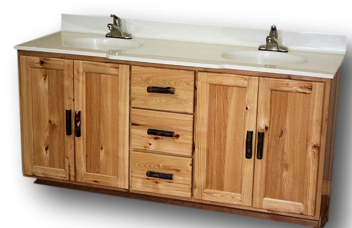 rustic hickory vanity barn wood furniture rustic furniture log