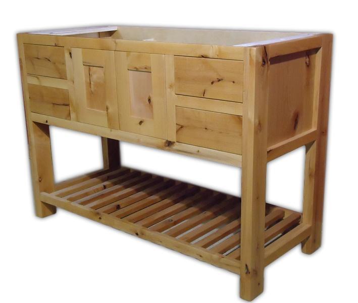 Rustic Minnesota Alder Vanity Barn Wood Furniture Rustic
