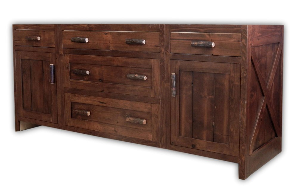 Authentic Barnwood Vanity Base - Custom Made by Vienna Woodworks