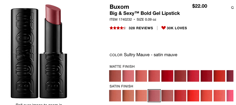 http://www.sephora.com/big-sexy-bold-gel-lipstick-P398927?skuId=1740232