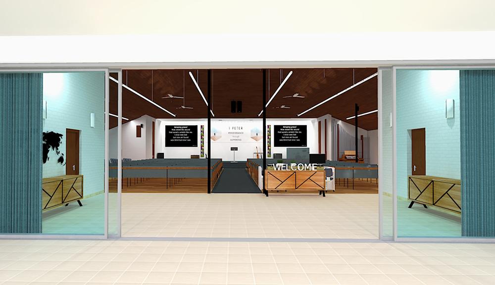 Larger foyer