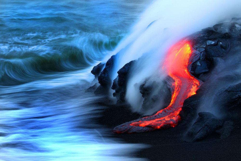 Lava flow - Kilauea Volcano Hawai. Photo by CJ Kale and Nick Selway. flow