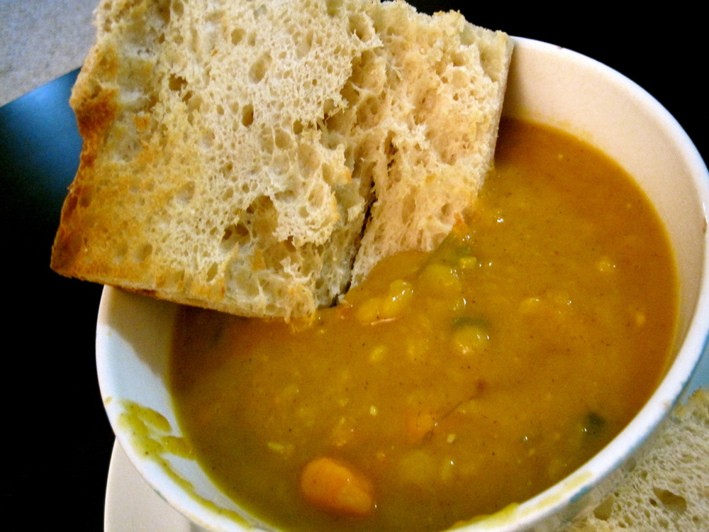 Sweet Potato Soup with Yellow Split Peas — Rhyann's (Rad)ventures