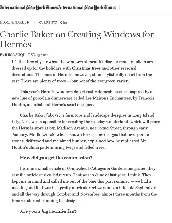New York Times — Baker Structures