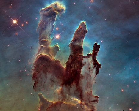 The Eagle Nebula's Pillars of Creation – from the Hubble Telescope