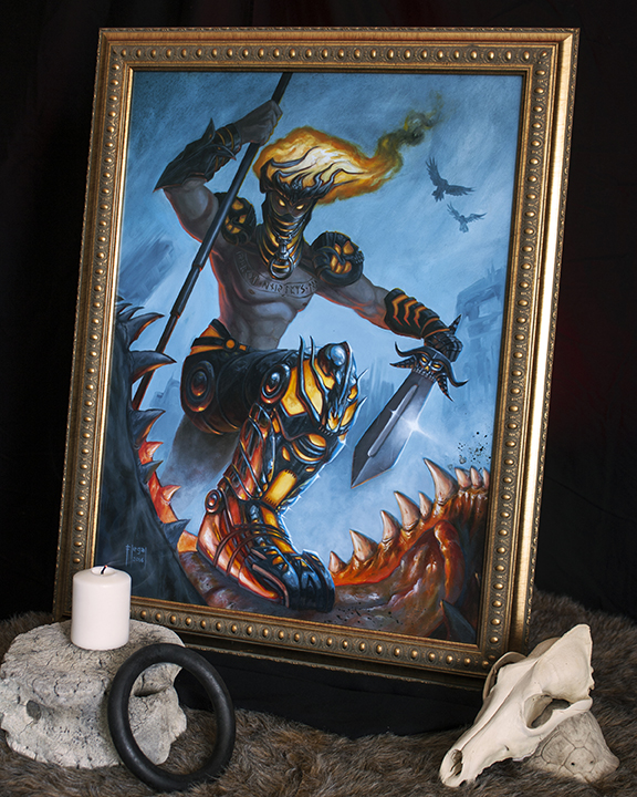 vidar_viking_god_painting_framed.jpg