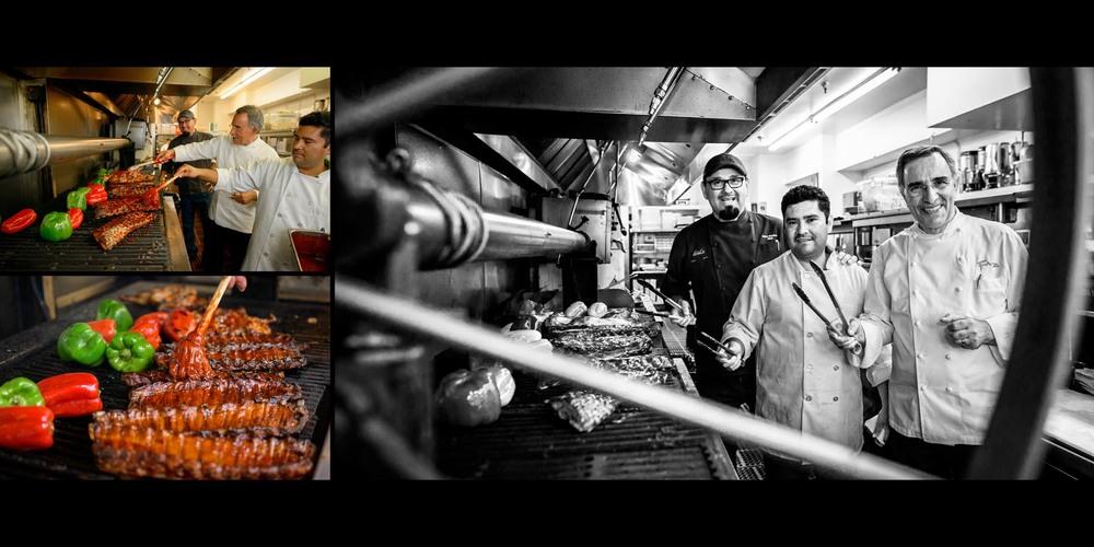 Kitchen action, behind the scenes (food prep)