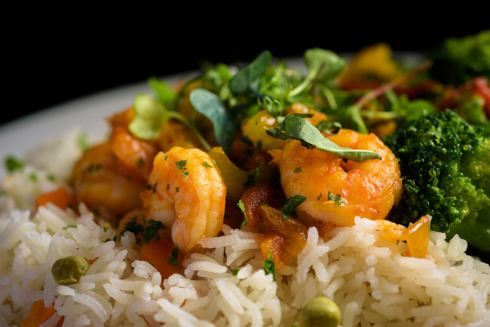 shrimp and rice – Food Photos at Firehouse 37 restaurant in San Ramon - by Bay Area commercial photographer Chris Schmauch