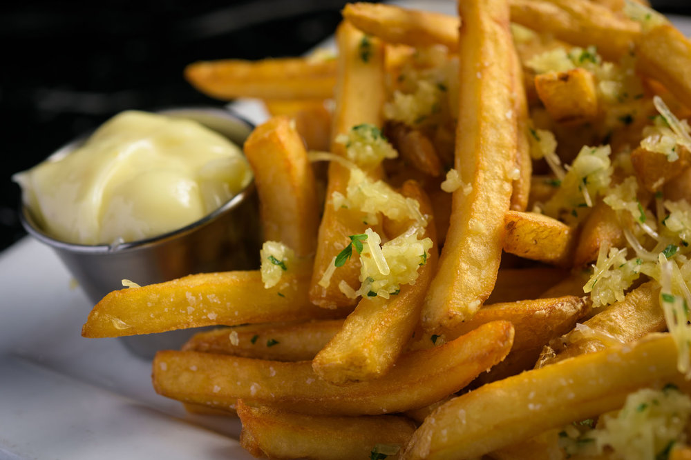garlic fries – Food Photos at Firehouse 37 restaurant in San Ramon - by Bay Area commercial photographer Chris Schmauch