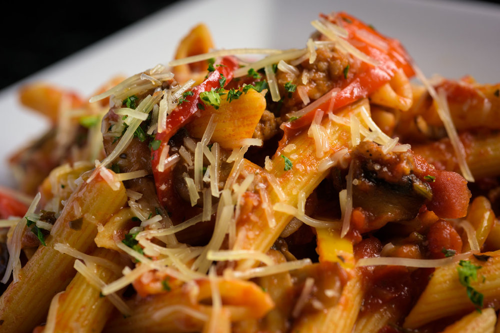 rigatoni pasta – Food Photos at Firehouse 37 restaurant in San Ramon - by Bay Area commercial photographer Chris Schmauch