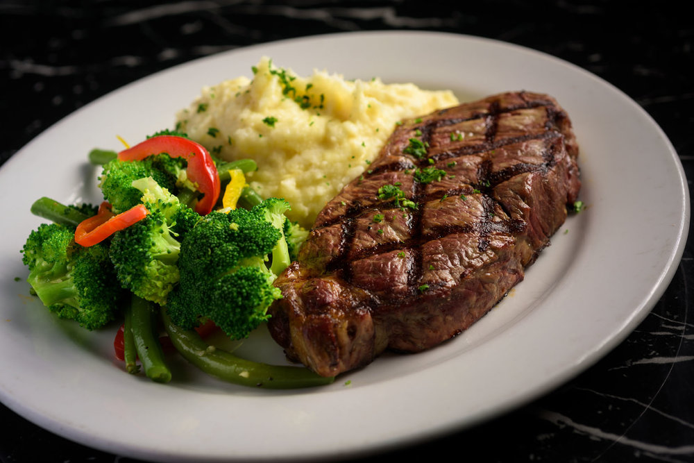 steak and mashed potatoes – Food Photos at Firehouse 37 restaurant in San Ramon - by Bay Area commercial photographer Chris Schmauch