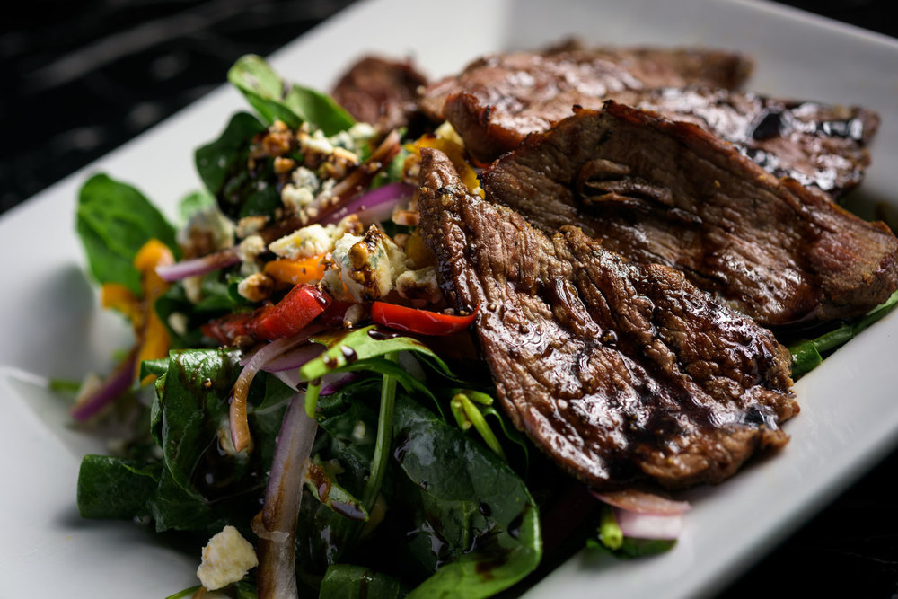 steak salad – Food Photos at Firehouse 37 restaurant in San Ramon - by Bay Area commercial photographer Chris Schmauch