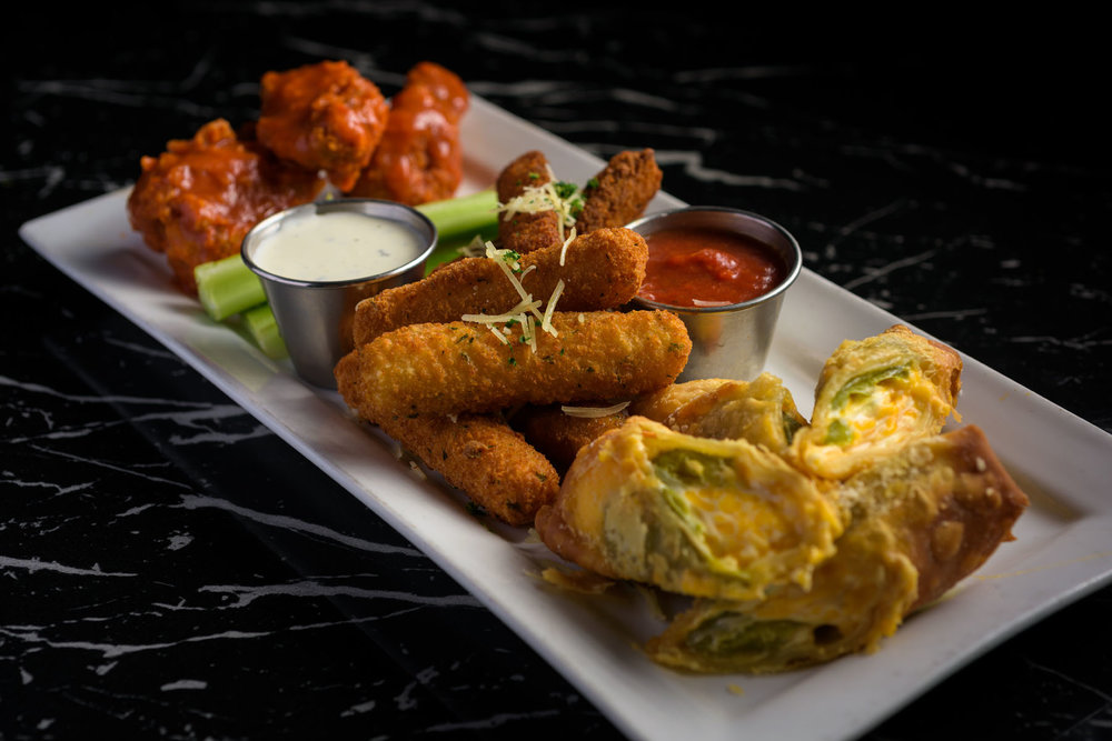 sampler appetizer platter – Food Photos at Firehouse 37 restaurant in San Ramon - by Bay Area commercial photographer Chris Schmauch