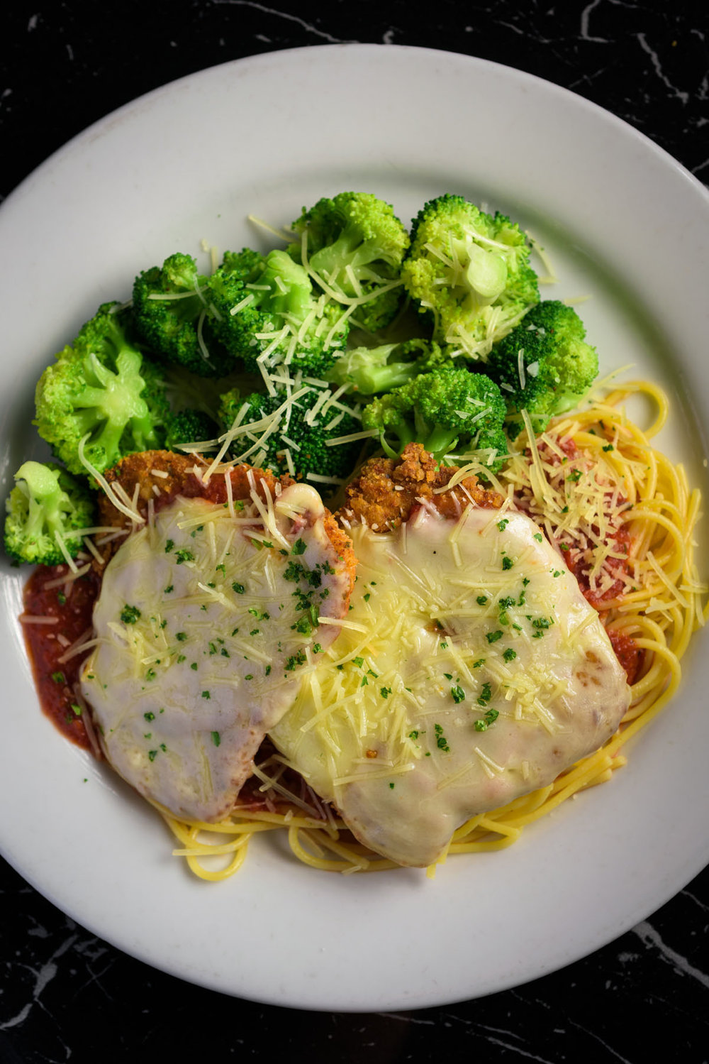 chicken parmesan – Food Photos at Firehouse 37 restaurant in San Ramon - by Bay Area commercial photographer Chris Schmauch