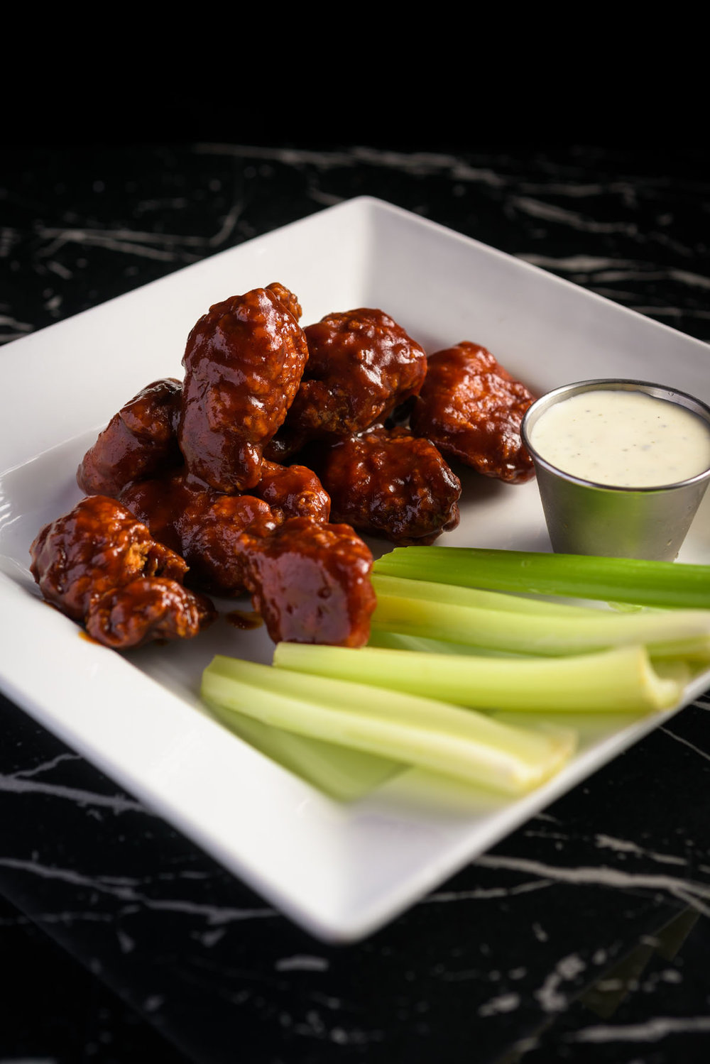 spicy chicken wings – Food Photos at Firehouse 37 restaurant in San Ramon - by Bay Area commercial photographer Chris Schmauch