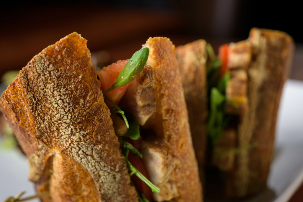 Sandwich closeup  - Cupertino food photography - RootStock Wine Bar - photos by Bay Area commercial photographer Chris Schmauch