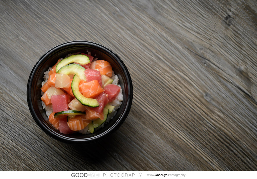 Poki Bowl plated dishes / food photography - by Bay Area commercial food photographer Chris Schmauch