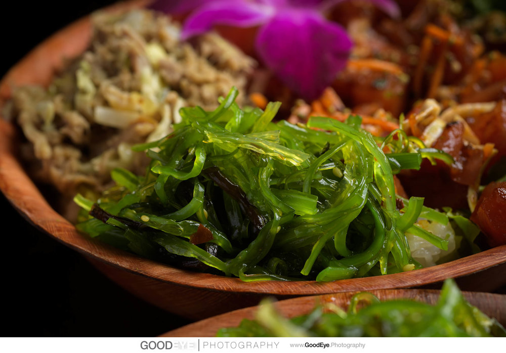 Da Kine Island Grill plated dishes / food photography - by Bay Area commercial food photographer Chris Schmauch