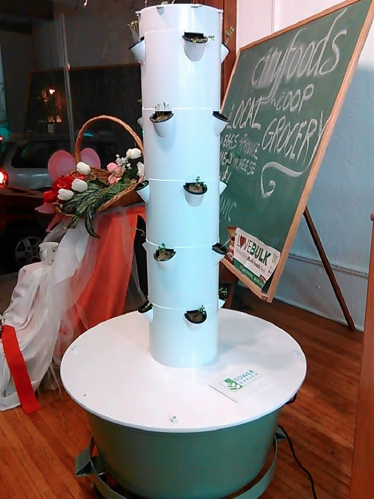 Tower Garden Used for a Food Bank in Lafayette PA