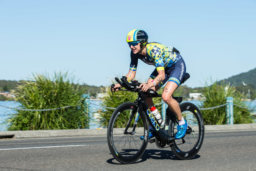 Laura Siddall set up her Ironman Australia title with a dominate bike leg.