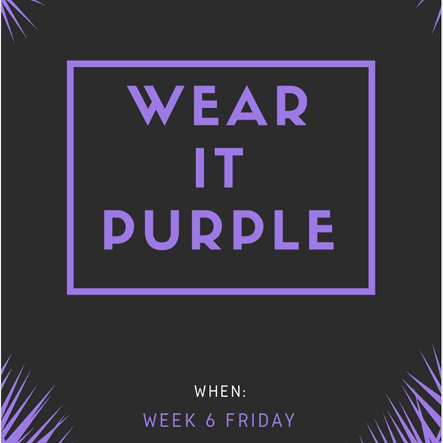 #wearitpurple is tomorrow! Buy a raffle ticket, visit Level 2 at lunchtime for the bake sale and wear some purple to support this great event! #loveislove #equality