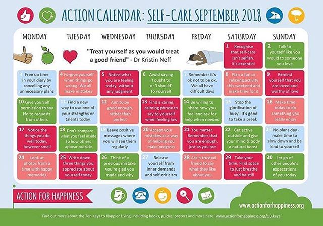 We love this calendar by @actionhappiness #selfcare #september #selfcareseptember