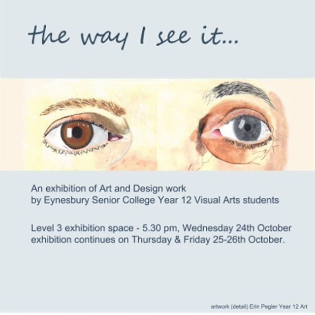 The Year 12 Visual Arts exhibition is on next week. We hope to see lots of students, teachers and families on campus for Wednesday's opening night! #visualart #design #year12 #year12art