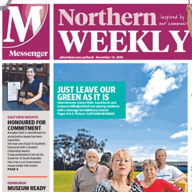 Making news: Annaliese featured on the front page and page 4 of the Northern Weekly Messenger this week. The story also appeared in the North Eastern Weekly Messenger. Congratulations on your Citizenship Award 🥇