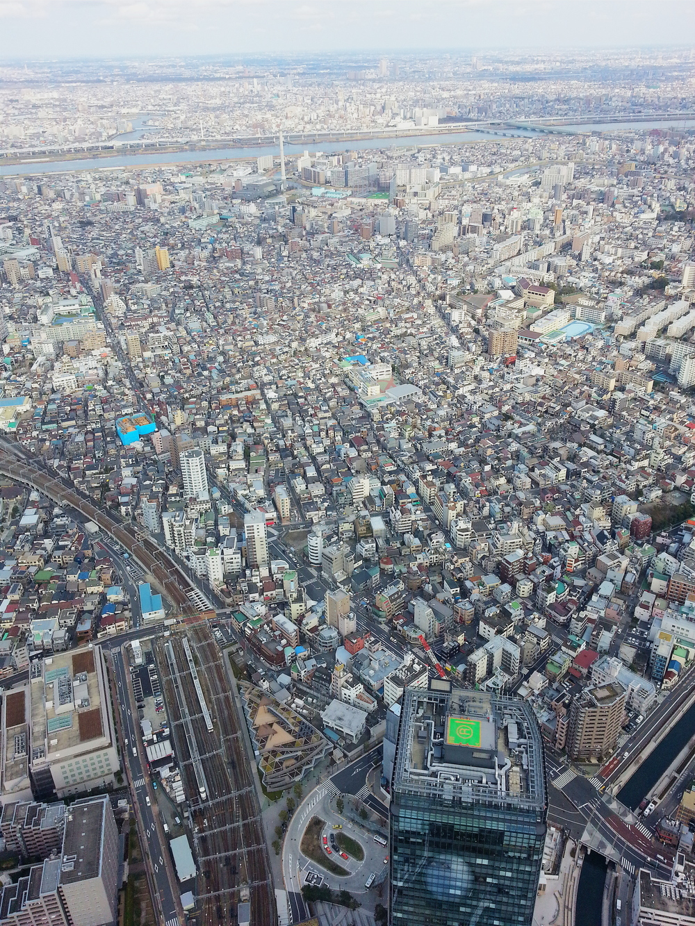 Partial view from the top of the SkyTree. You can spend all your time in Tokyo and never run out of things to see & do