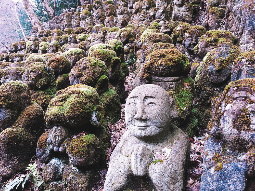 Giggled at the 1200 little statues at Otagi Nenbutsu Ji Temple in Arasshiyama Cost: 300 yen / $2.50 per person