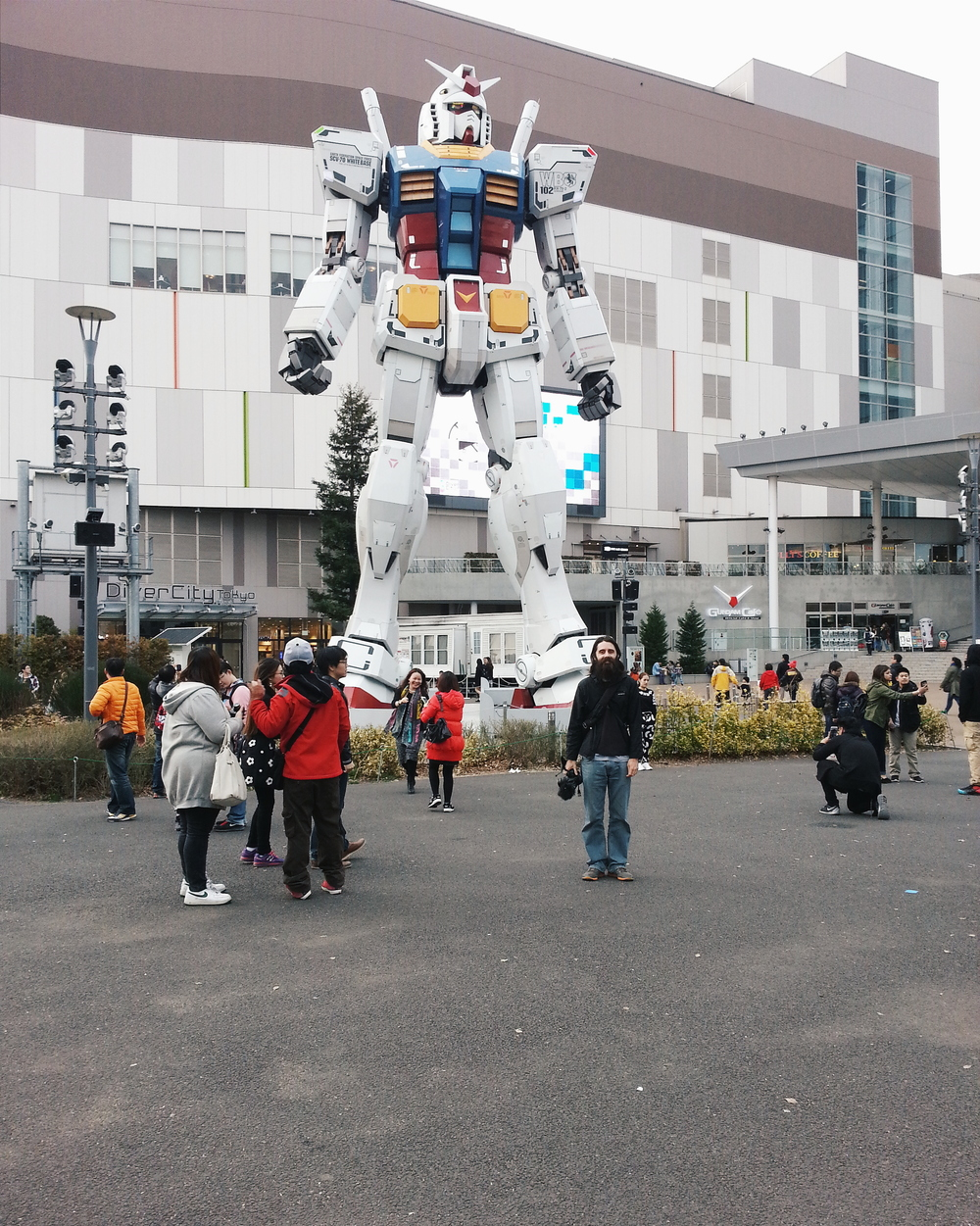 Walked around Odaiba and looked like an ant next to the Gundam. Cost: Depends. It's an island complex full of shopping