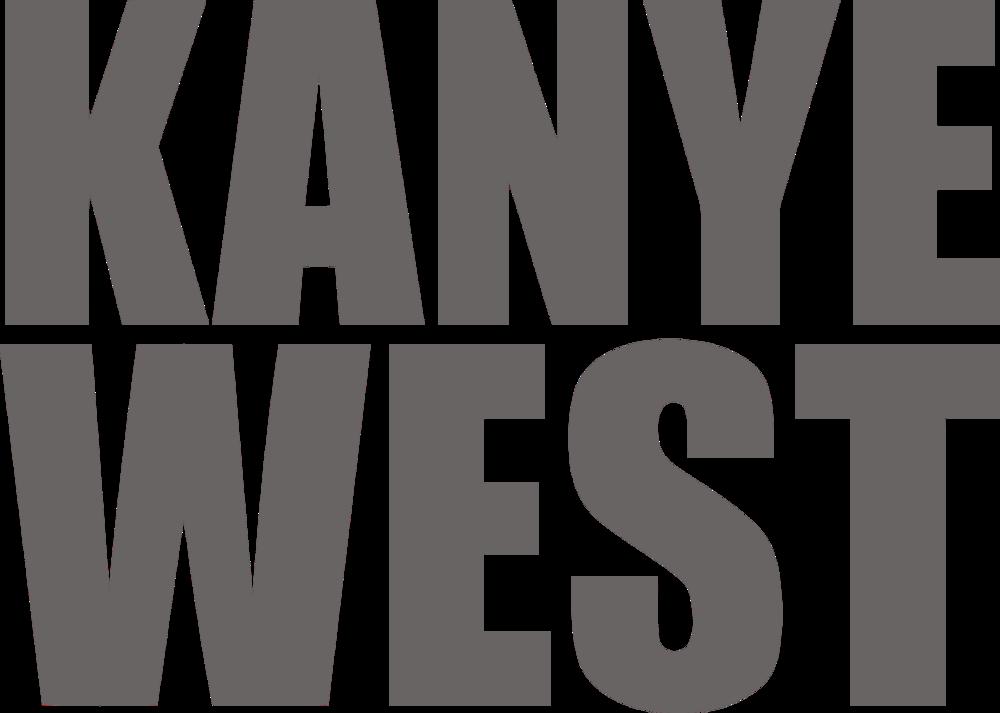 Kanye West Logo grey.png