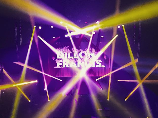 About last night @terminal5nyc & @dillonfrancis  Audio | lighting | projection | video | back line.