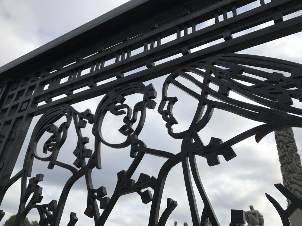 Three Fates Wrought Iron Gate