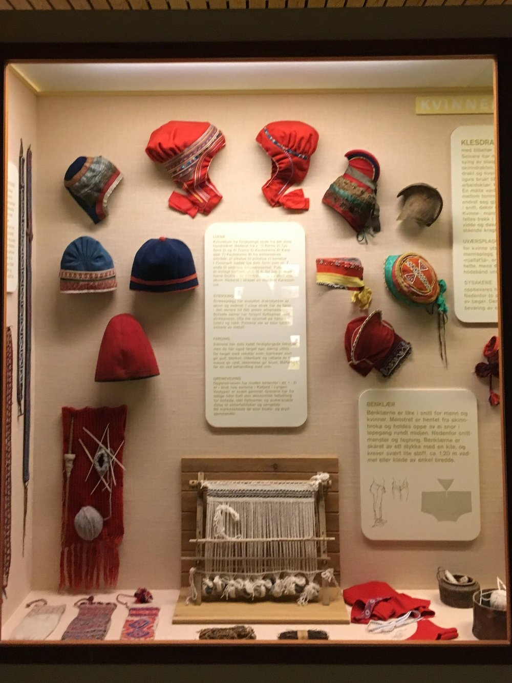 An array of colorful headwear and hats.