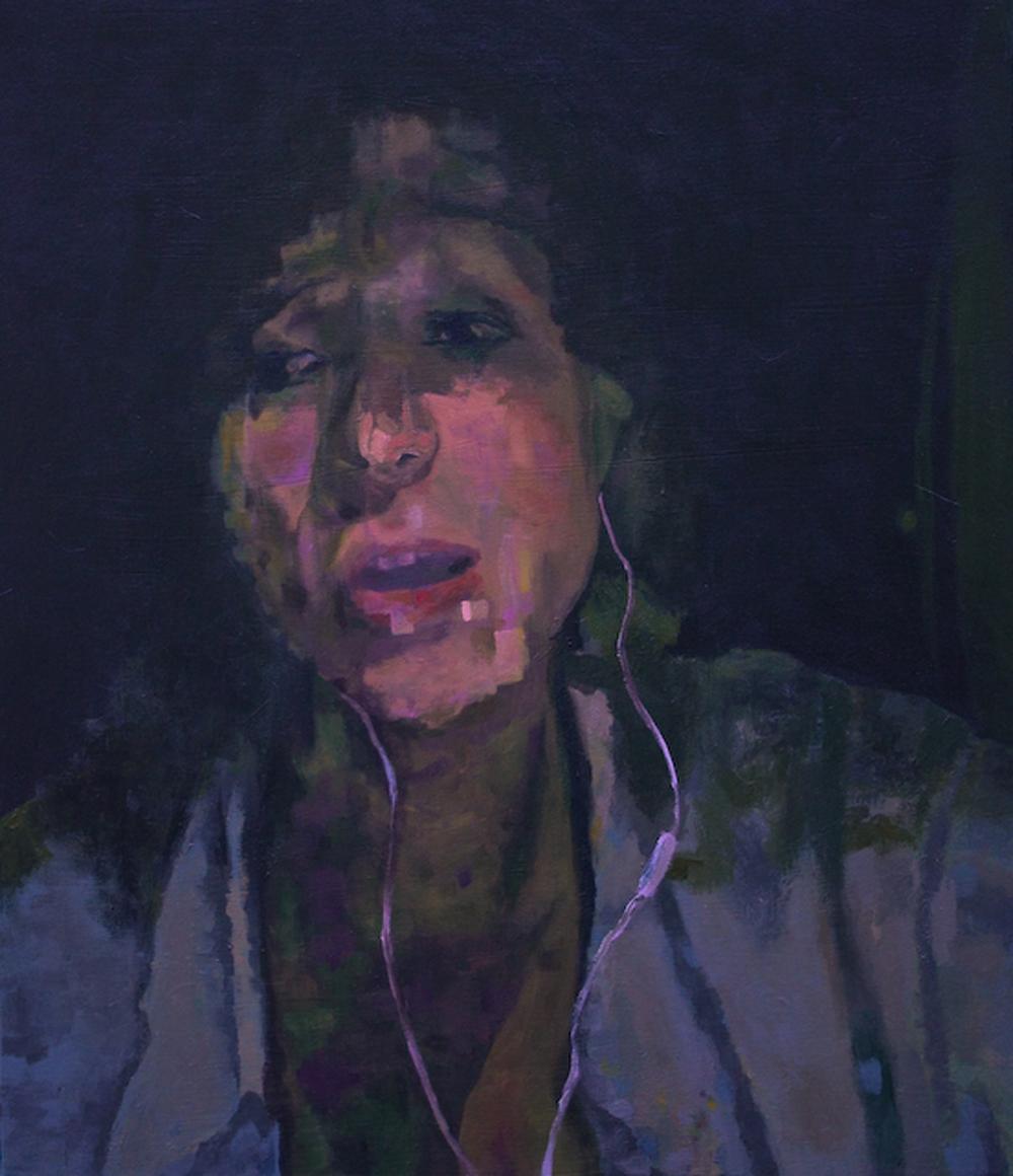 """""""Eliza,"""" 2010 - Acrylic, 24"""" x 36"""""""