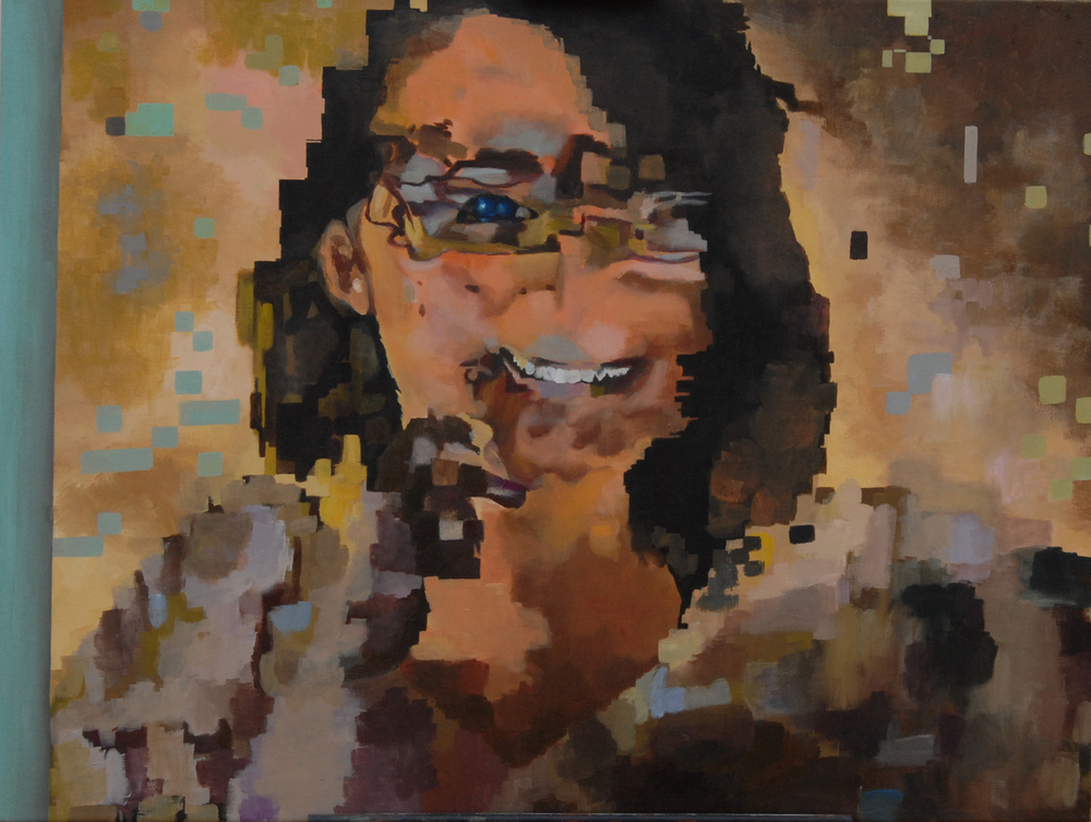 """Grace,"" 2011 - Acrylic, 36"" x 48"""