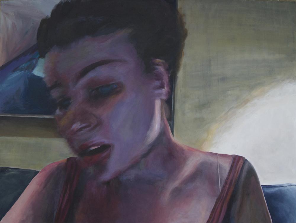 """""""Kat,"""" 2015 - Acrylic, 30"""" x 40"""""""