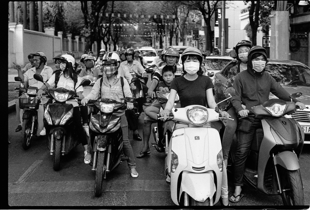 Mopeds in Ho Chi Minh