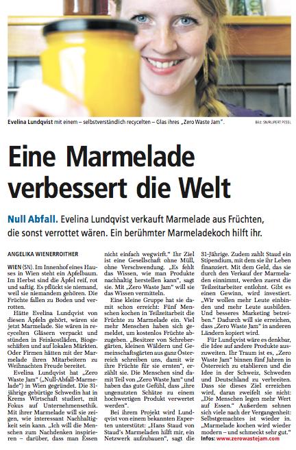 Zero Waste Jam - Salzburger Nachrichten
