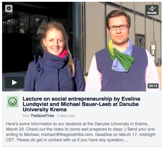 Evelina and Michael - The Good Tribe - Danube University Krems